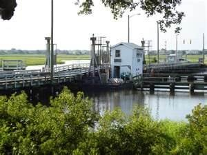 Sunset Beach NC old swing bridge
