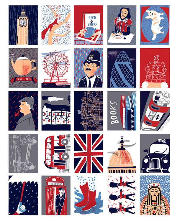 NY, LONDON & PARIS MAPS AND STAMPS on Behance