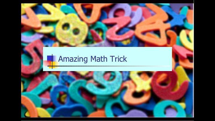 Maths Magic Tricks for kids