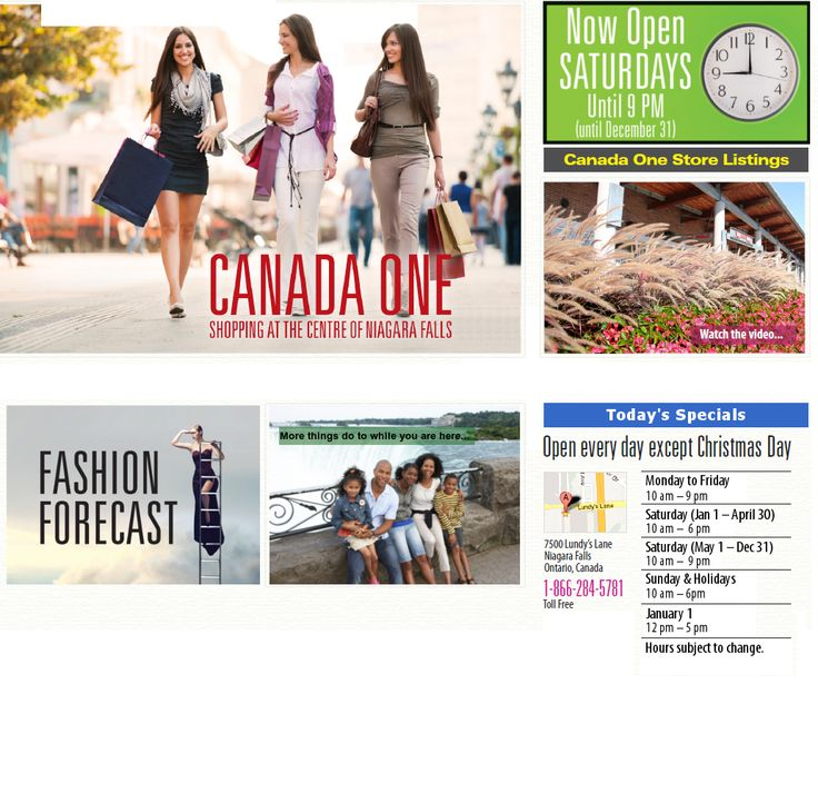 Canada One Factory Outlets is home to stores like Roots, Coach, Michael Kors, Nike, Sony and more.