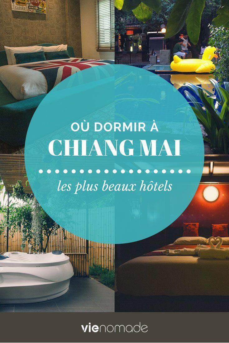 Où dormir à Chiang Mai? Découvrez une sélection des meilleurs hôtels et guesthouses de Chiang Mai pour tous les goûts et tous les porte-monnaies, présentés par quartier!   #chiangmai #thaïlande #thaï  #voyage #hotel #hoteldesign #Hôtel #guide