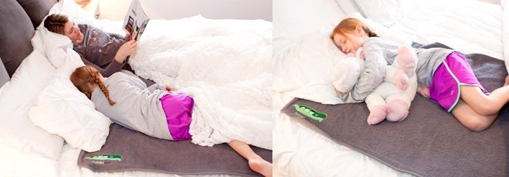Do you have a little one that likes to crawl into bed with you, but you are concerned with bedwetting? Check out Peapodmats.com!