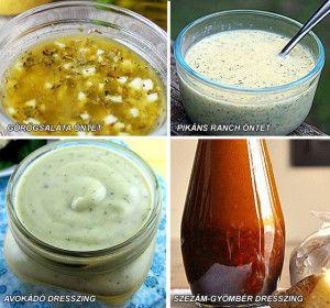 Egészséges salátaöntetek - CleanEating.hu