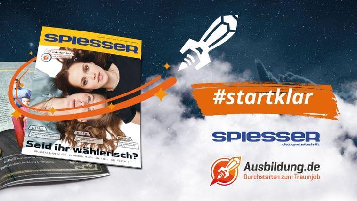 """Berufsorientierung """"#startklar"""": Ausbildung.de startet breitangelegte Kooperation mit Schülermagazin SPIESSER"""