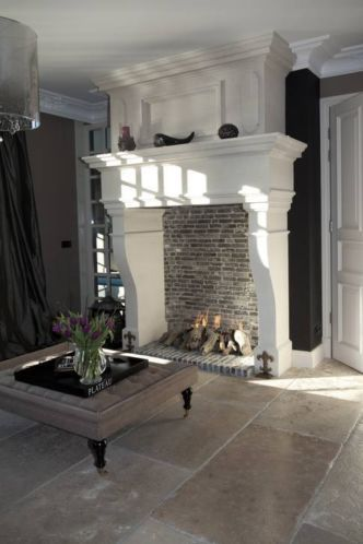 Large format tiles | Flooring | Pinterest | Fireplaces ...