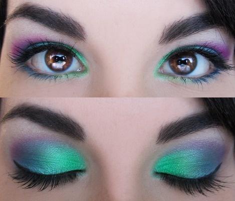 Peacock eyes: Peacocks, Make Up, Eye Makeup, Eye Shadows, Eyeshadows, Beauty, Makeup Idea