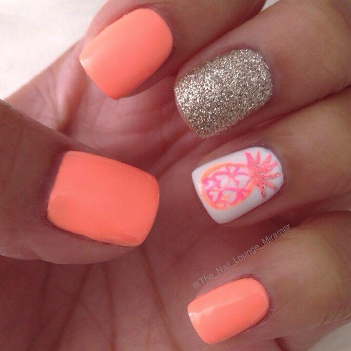 Madebygirl inspired pineapple nail art design