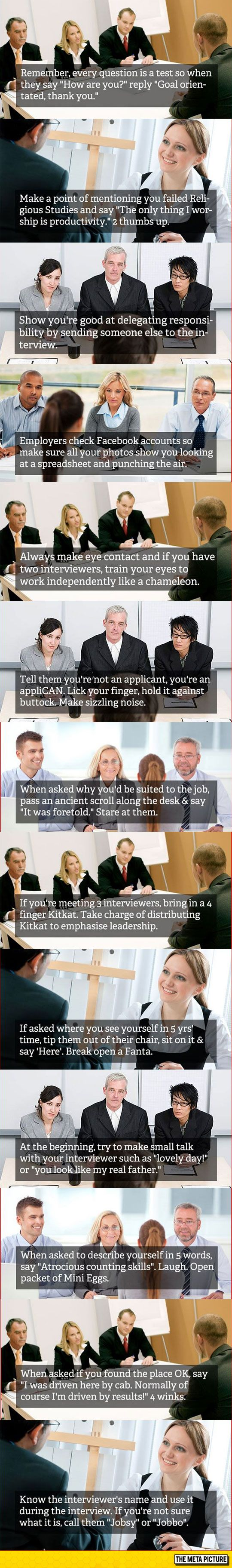 best ideas about job interview funny life hacks some good job interview tips