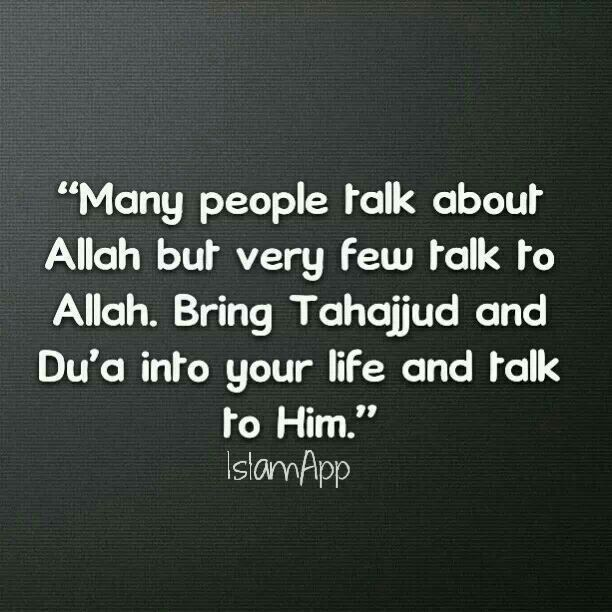 Allah is best to talk with.