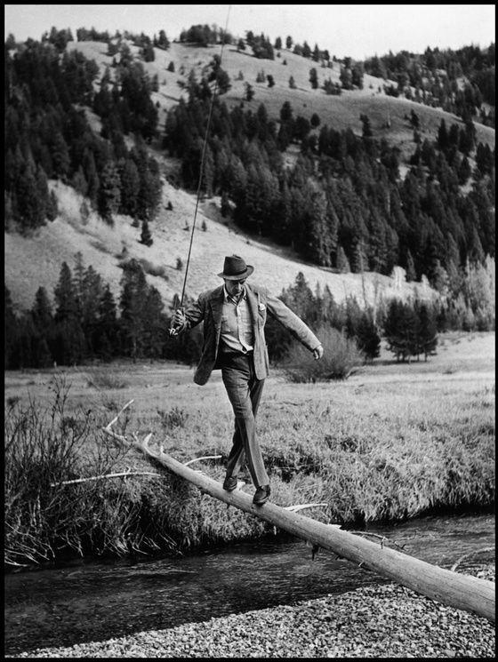 Gary Cooper à Sun Valley dans l'Idaho (États-Unis) en octobre 1941. Robert Capa