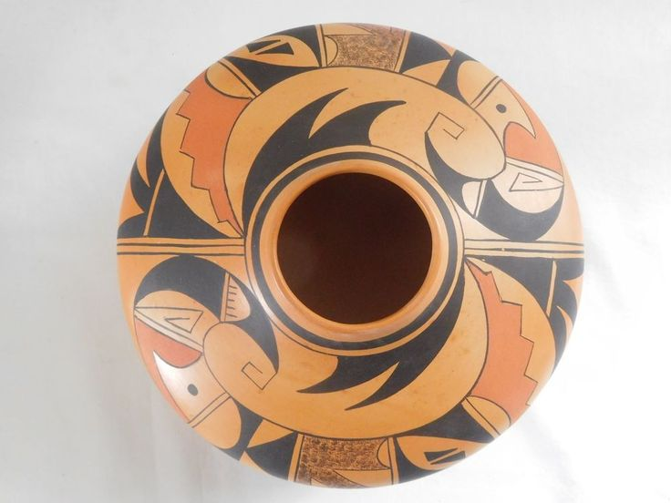 "LARGE REMARKABLE HOPI INDIAN POTTERY JAR BY ""BEST OF SHOW"" ARTIST DEBBIE CLASHIN"