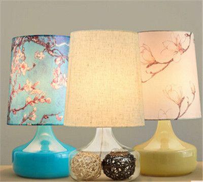 Современная краткое стол декор лампы для свадьбы спальня лампа Pastorable синий/желтый/clear base table lamp with E27 ткань купить на AliExpress