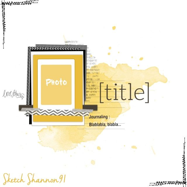 #sketch #sketchshannon91 #layout #scrapbooking #scrapbook #mixedmedia #shannon91