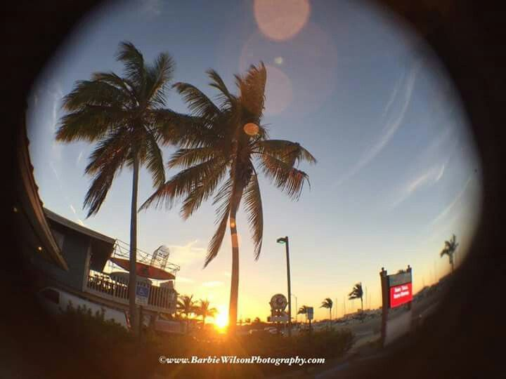 US National Weather Service Key West Florida | Awesome fisheye sunset shot tonight by Barbie Wilson. Taken off of North Roosevelt in Key West, Fl. #sunset #keywest #flwx #flkeys