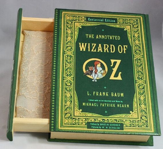 The Wizard of Oz Jewelry Box  Book Jewelry Box The Wizard by Kits, $15.00. She custom makes these with any book you want! <3