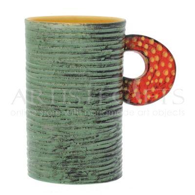 Κούπα Κεραμική Μακρόστενη Πράσινη Σαγρέ. Αποκτήστε το online πατώντας στον παρακάτω σύνδεσμο http://www.artistegifts.com/koupa-keramiki-makrosteni-prasini-sagre.html