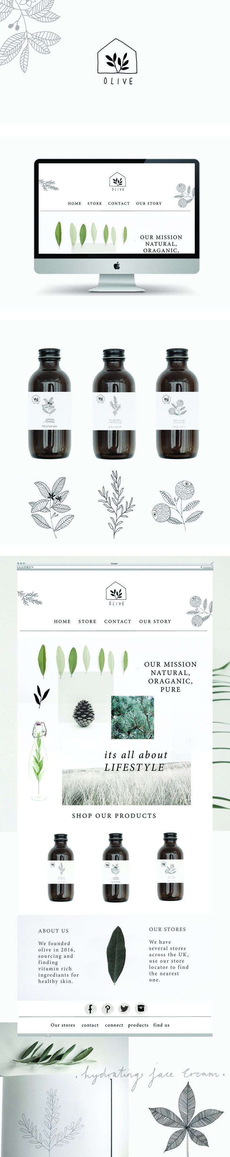 Olive branding and website by Ryn Frank www.rynfrank.co.uk
