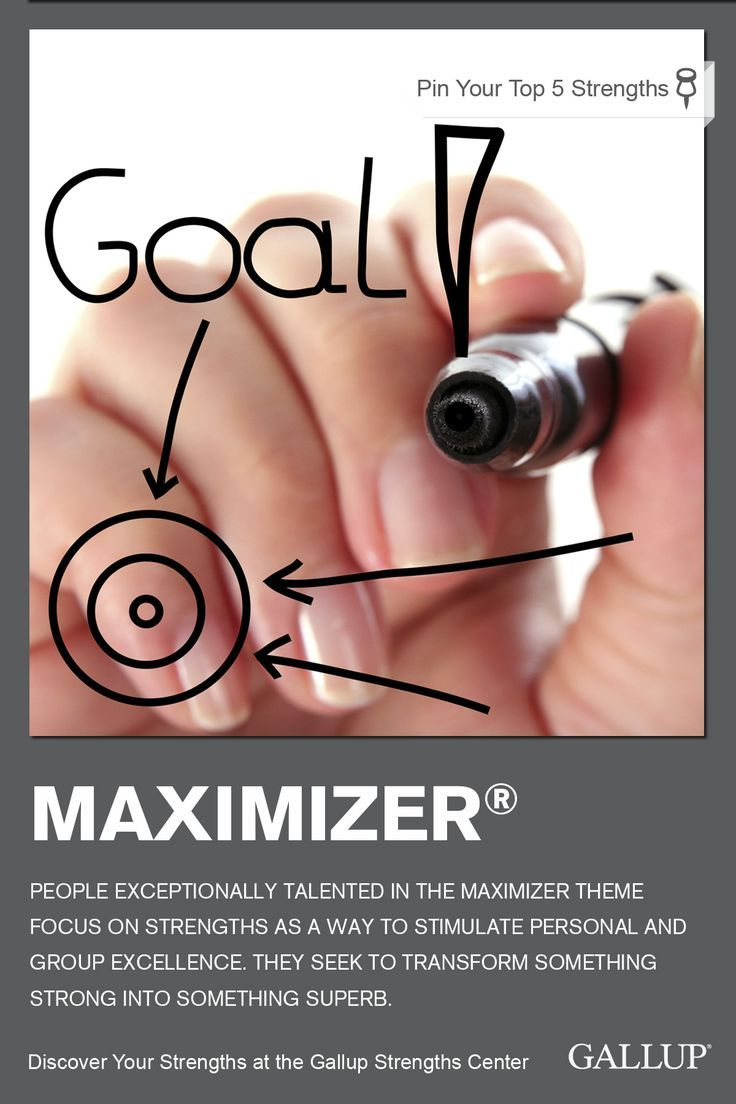 If you often pursue personal and group excellence, you may have Maximizer as a strength. Discover your strengths at Gallup Strengths Center. http://www.gallupstrengthscenter.com