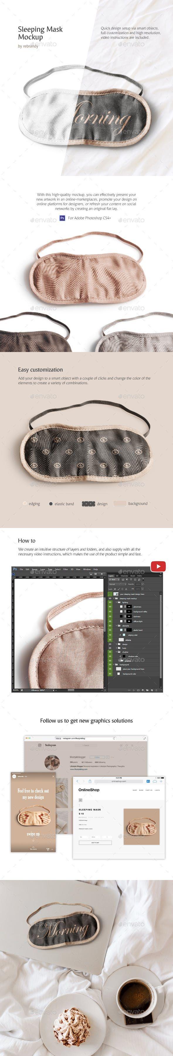 Download Sleeping Mask Mockup Sleep Mask Mockup Mask Design
