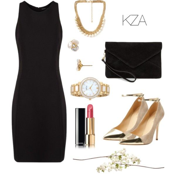 Black Dress. Would love to go to formal dinner party or any formal event with this kind of style. Check out my polyvore for more ideas!