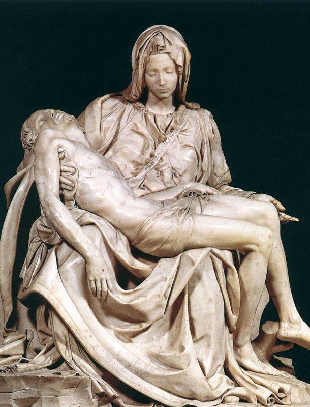 La Pietà 1498-1499, Michelangelo Buonarrotti (Caprese, 6-III-1475 – Roma, 18-II-1564)