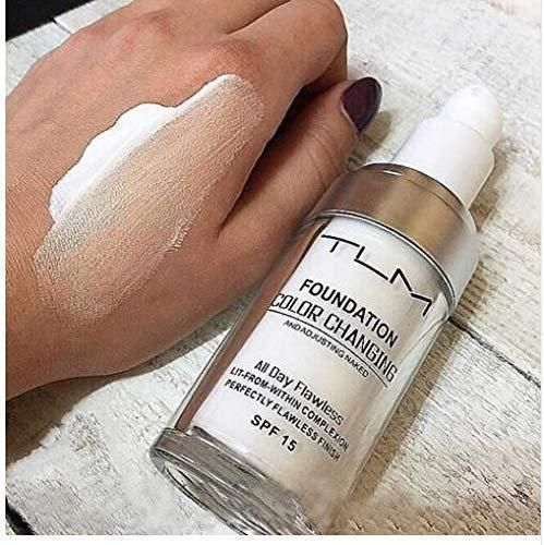 It is a revolutionary new liquid foundation that goes on white and instantly self-adjusts to match your EXACT skin tone. Its unique color-matching formula will protect and moisturizes your skin as it works to even out your complexion. This foundation contains SPF 15 sun protection to shield your skin from harmful UVA and UVB rays It is designed for daily use and will give your skin that illuminating silky finish .  Get it today for 50% OFF!