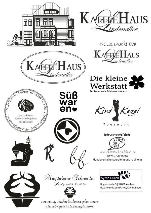 Kundenbeispiele Fur Stempel Logostempel Kukuwaja Logoentwicklungen Graphik Und Produktdesign Kundenbeispiel Logo Stempel Logo Entwicklung Verschenken