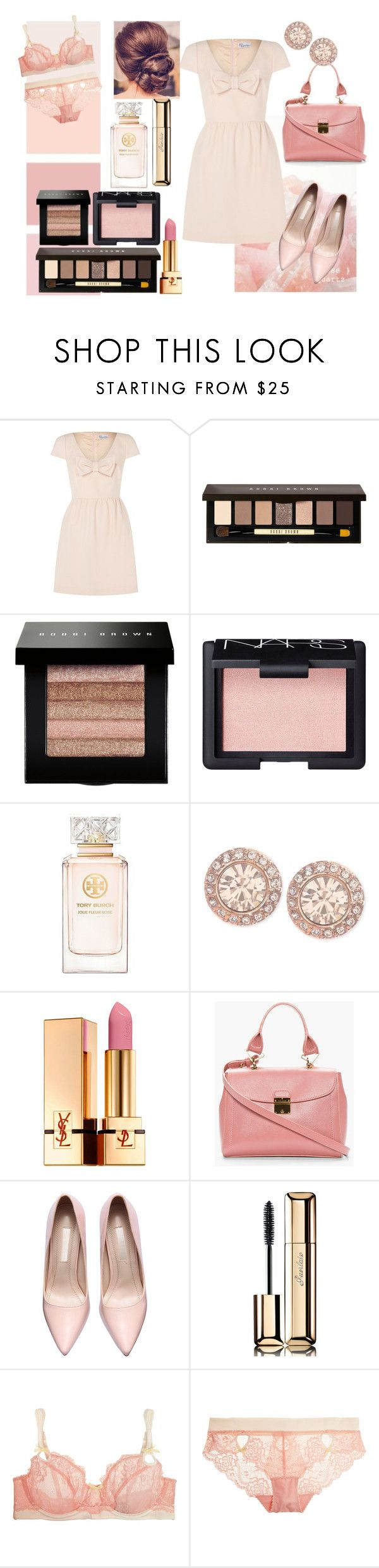 """""""Rose Quartz"""" by miss-meghan-elizabeth ❤ liked on Polyvore featuring RED Valentino, Bobbi Brown Cosmetics, NARS Cosmetics, Tory Burch, Givenchy, Yves Saint Laurent, Marc Jacobs, Guerlain and Heidi Klum Intimates"""