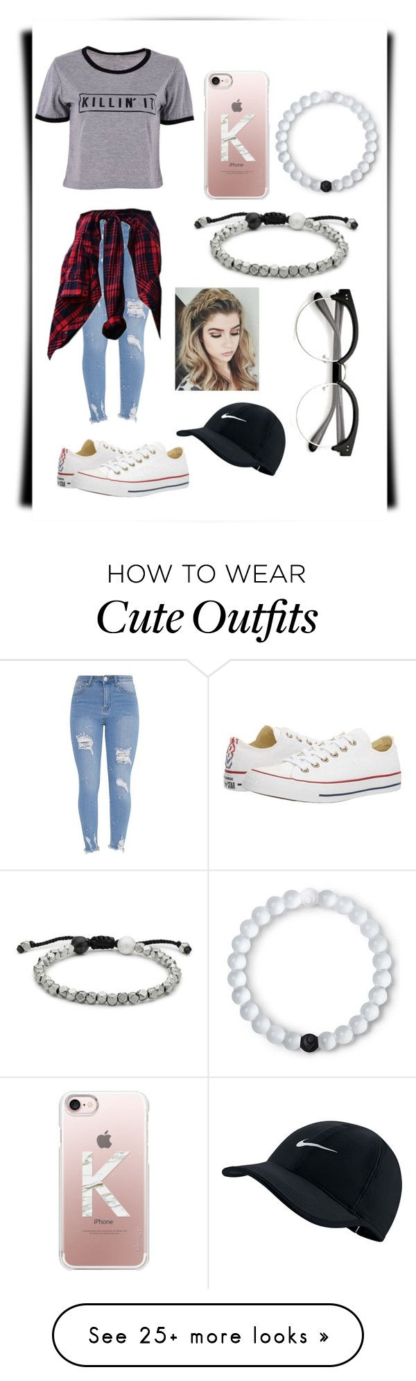 """""""Casual Outfit #6"""" by judith-wanasida on Polyvore featuring Casetify, Converse, Lokai and NIKE"""
