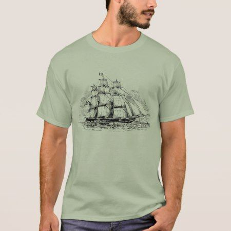 Vintage Sailing Ship T-Shirt - tap, personalize, buy right now!