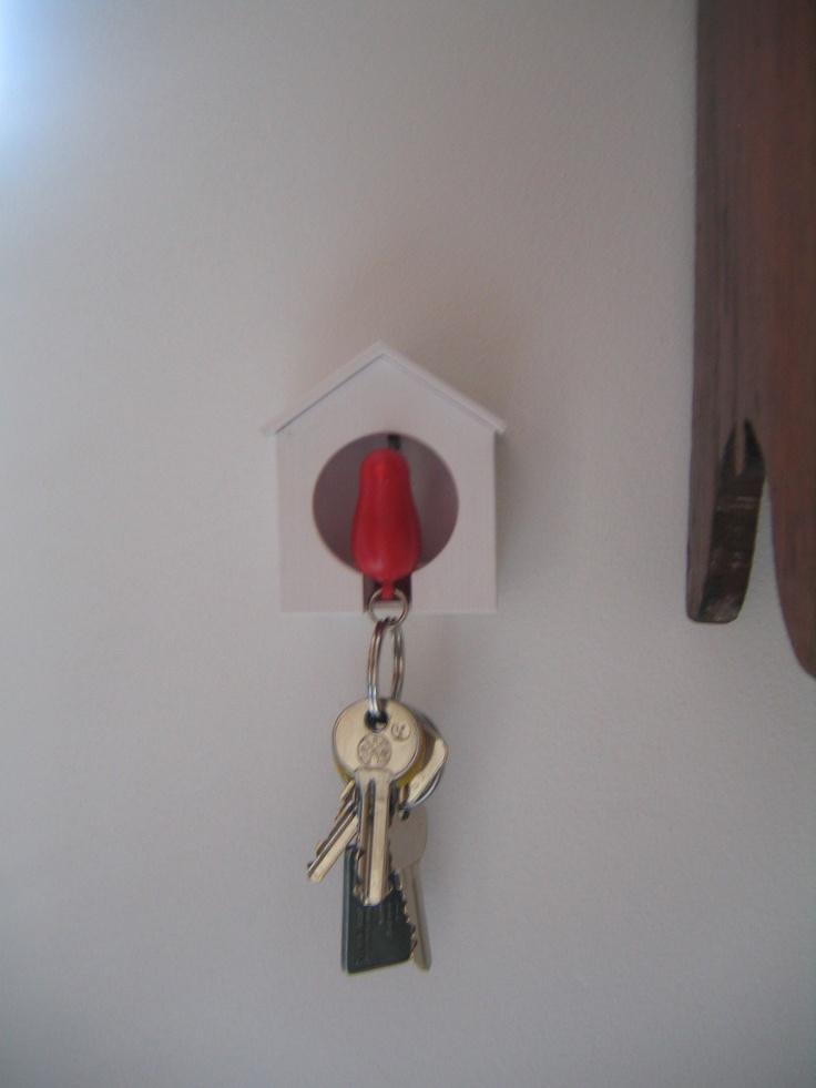 Mijn vogel-huis-sleutel-hanger-huisje.