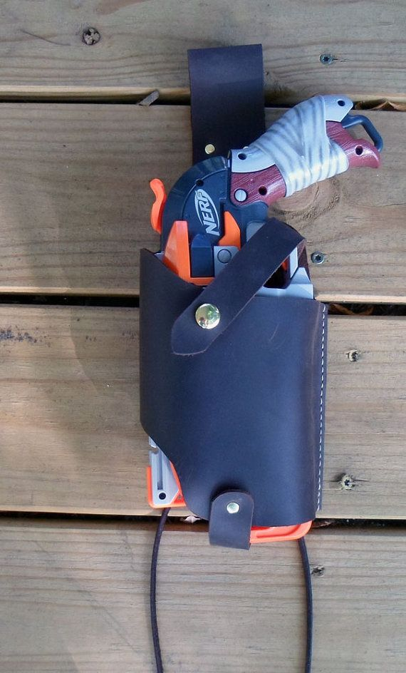 Handcrafted Leather Nerf Hammershot Tactical by leatherholsters