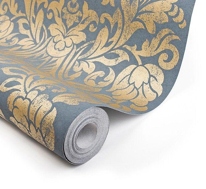 Die besten 25+ Blaue tapete Ideen auf Pinterest Blaue - graue tapete wohnzimmerwohnzimmer fliesen beige matt