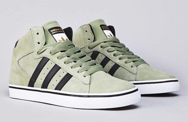 adidas Skateboarding Campus Vulc Mid: Pale Green