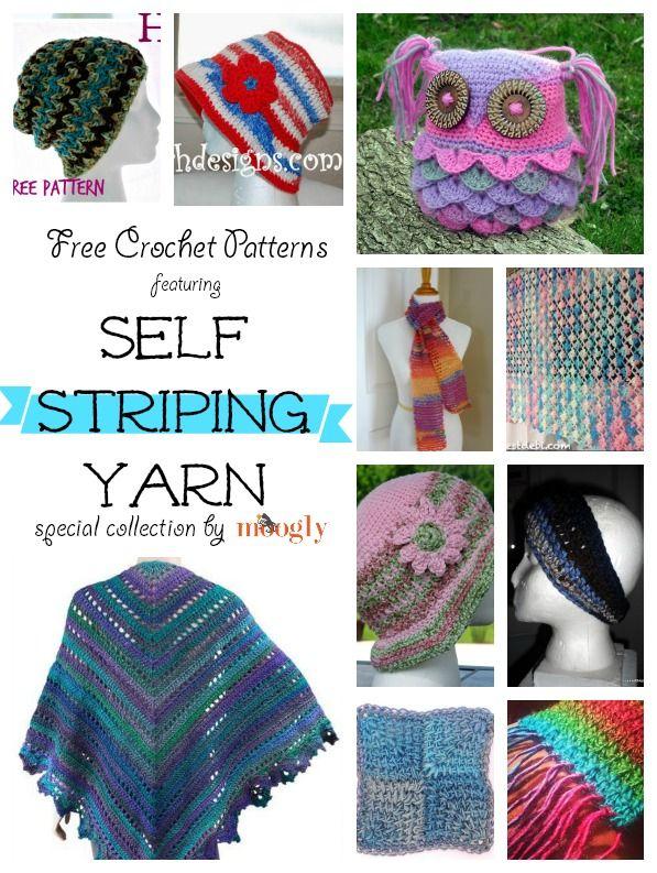 Crochet Stitches That Use Less Yarn : ... Crochet, 20 Free, Mooglyblog Com, Stripes Yarns, Crochet Patterns