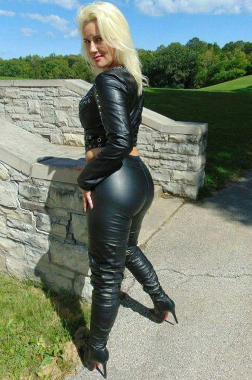 Milf In Leather Smoking