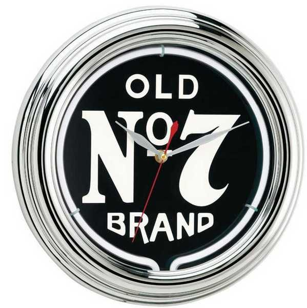 Jack Daniel's Old No. 7 Neon Clock Power Adaptor Included JD-30205