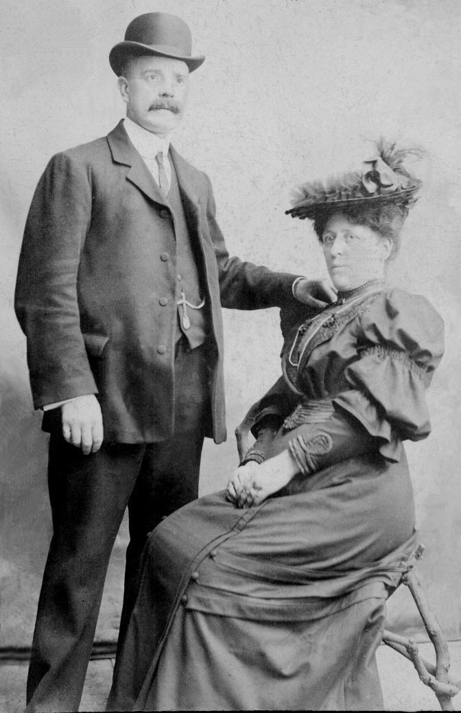 My Great Grandparents - William & Harriet (nee Edwards) Newton - photo taken c. 1890's - Manchester, England