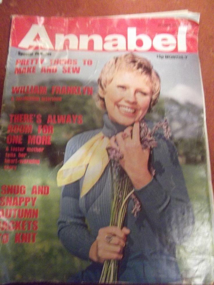 Vintage 1974 Annabel Women's Magazine October | eBay