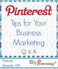 Pinterest Tips for Your Business Marketing a Q & A Session OSP Episode 018