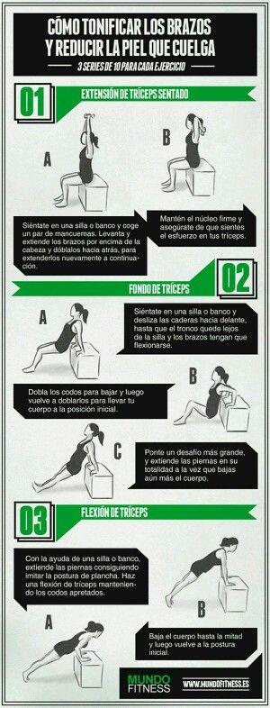 www.rubenentrenador.com   Entrenamiento personal Ponte en forma . Tonificación de brazos. Mujer.