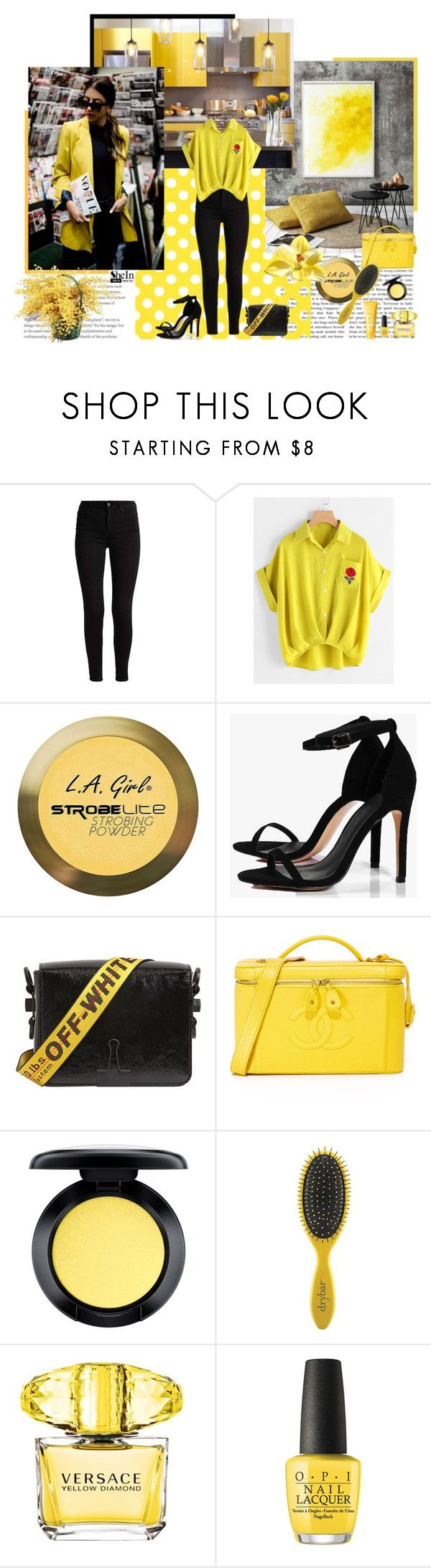"""""""Contest (shein)! - Win 30$ coupon!"""" by vivienlacroix ❤ liked on Polyvore featuring Charlotte Russe, Boohoo, Off-White, MAC Cosmetics, Drybar, Versace, OPI and Clinique"""