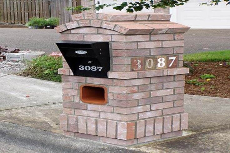 14 best images about mailbox on pinterest brick masonry for Brick sign designs