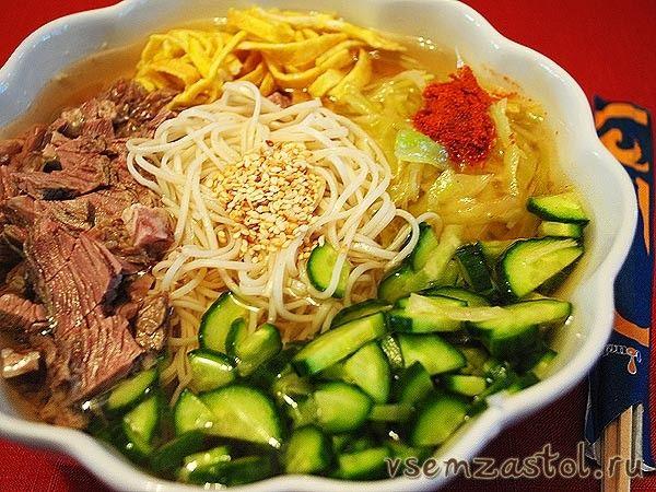 Кукси (холодный корейский суп)
