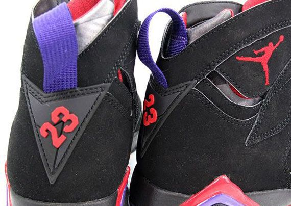 Air Jordan VII Black True Red Dark Charcoal Club Purple. Was in love with these back in high school
