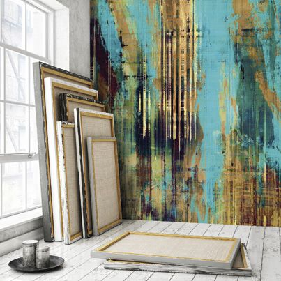 Affresco, effects of paint on metal.