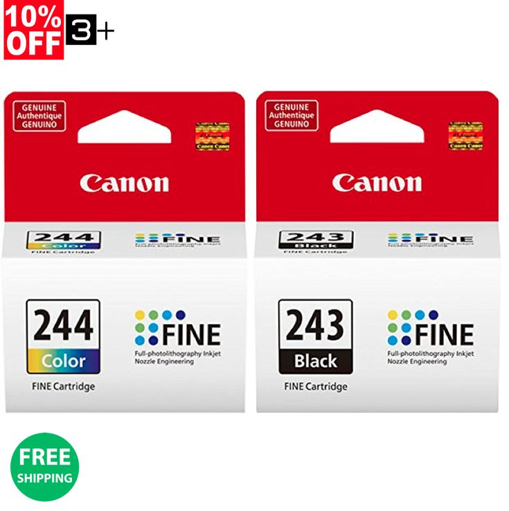 Genuine Canon Ink Cartridges PG-243 & CL-244 You Are Buying a Bulk Packaging economic version of this product and it will Not be Shipped in Retail Box... #cartridges #canon #genuine