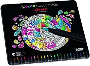 BIC Conte Limited Edition Colouring Pencil (Tin of 24): Amazon.co.uk: Office Products