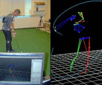 UTSA Today – Athletics UTSA professor, students studying the science of sports, human athleticism (Photo courtesy: UTSA Human Performance Laboratory) (Nov. 14, 2016) — Action: The athlete swings his golf club. Effect: A golf ball rolls to one end of the room. In the seconds before and after the action and its effect, six specialized cameras capture the motions of the athlete, the club and the ball. Nearby, William Land, assistant professor of kinesiology at The University of Texas at San…