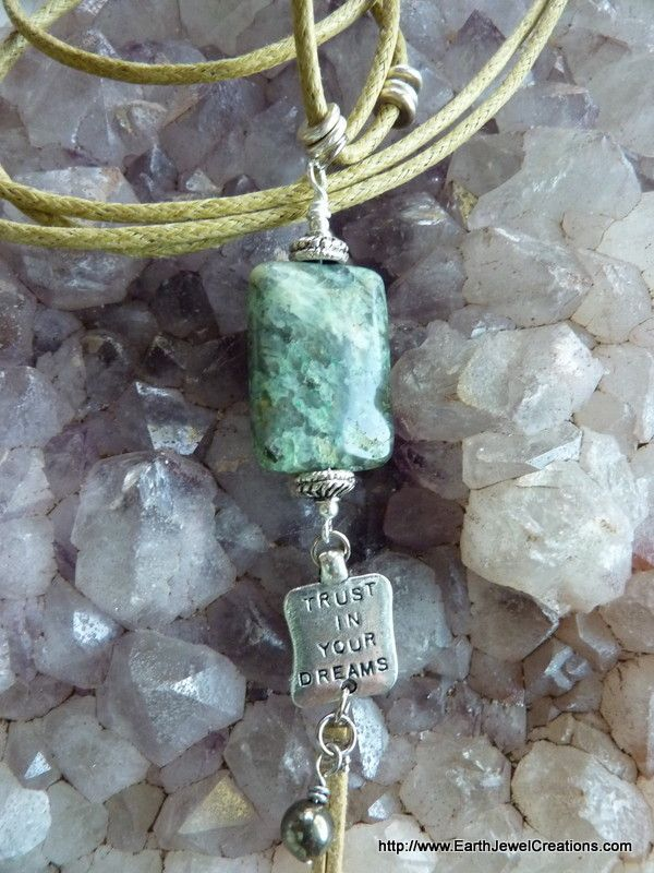 "Chrysocolla ""Serenety"" Pendant - handmade crystal energy gemstone jewellery Earth Jewel Creations Australia"